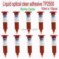 Free Shipping 10 pcs 10ml UV Glue LOCA Liquid optical clear adhesive for Repair Cellphones glass lens