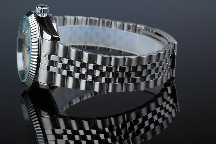 BIAOKA Часы Классические Мужские АВТО Дата автоматические Механические Часы С Автоподзаводом Аналоговые Скелет Черный стальной полосы Мужчина Наручные Часы