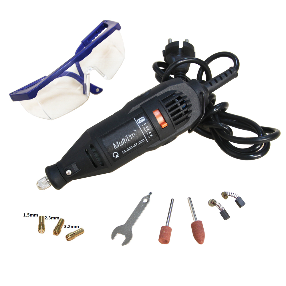 Free Shipping 220V 125w Variable Speed Electric Dremel Rotary Tool Mini Drill with Safety Glasses and Accessories(China (Mainland))