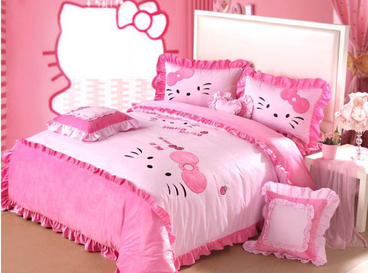 Popular Hello Kitty Queen Comforter Set Buy Cheap Hello