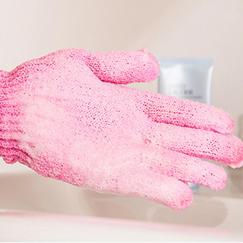 Bath Scrub Glove Exfoliating Gloves For Showering Body Sponge Bath Moisturizing Spa Bathwater Scrubbing Shower Scrubber Massage(China (Mainland))