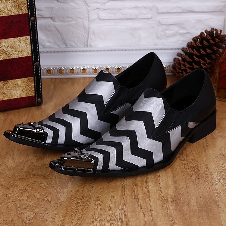 Drop Ship US Size 5-12 New Comfort geniune Leather Metal Tip Formal Dress Suit Shoe Mens Fashion Spikes Party Shoes Sz 11 <br><br>Aliexpress