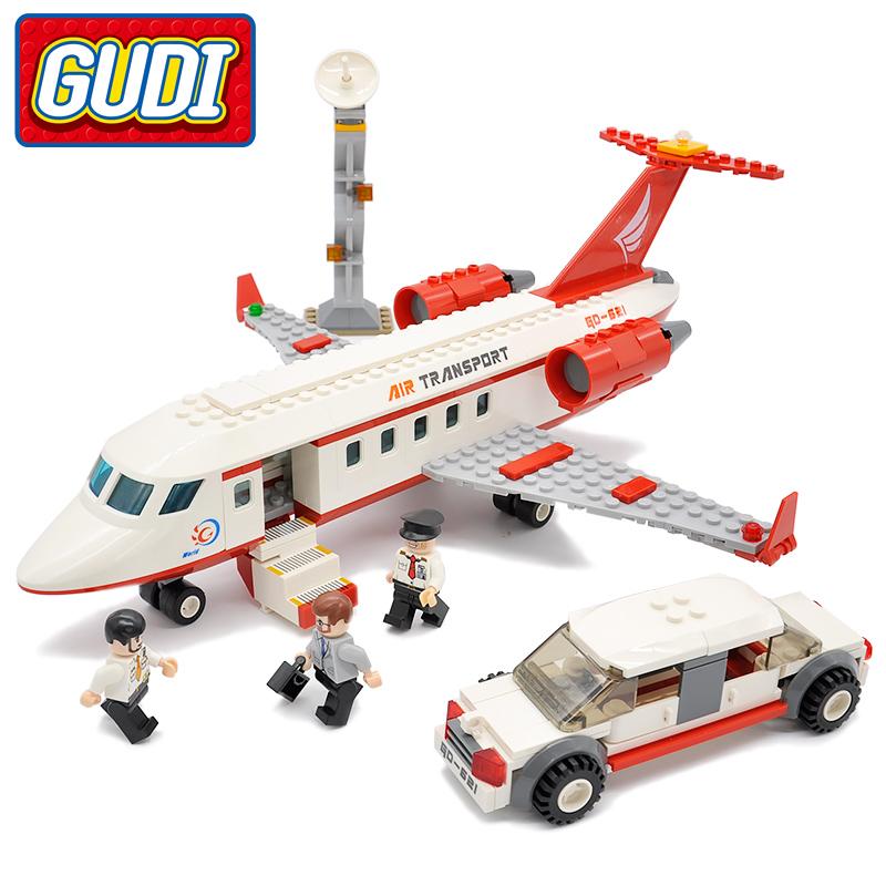 GUDI City Airport VIP Private Jet Plane Blocks 334pcs Bricks Building Block Sets Educational Toys For Children(China (Mainland))