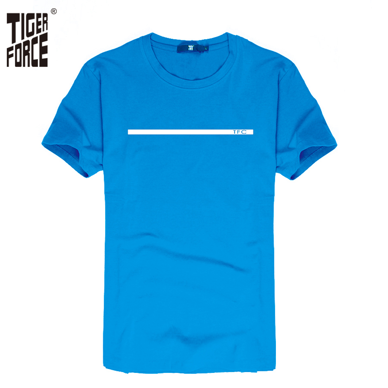 TIGER FORCE 2016 Famous Brand Men Fashion T-shirt 95%Cotton 5%Spandex O-Neck Casual Men tshirt Design Rock Free Shipping TF-2057(China (Mainland))