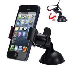 Car Windshield 360 Degree Rotating Phone Holder Mount Bracket Stand For Phones GPS Tablet PC Accessories Car Mobile Phone Holder(China (Mainland))