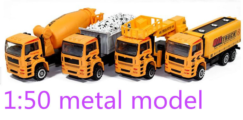 1:50 pull back alloy engineering model car toy car Children's gift classic toys worth buying(China (Mainland))