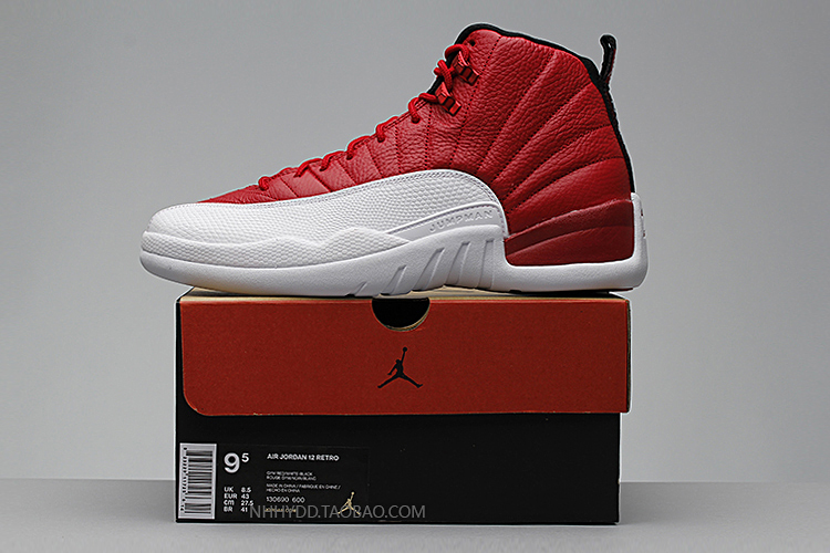 New 2016 women air jordan 12 retro shoes red and white gym red navy gum olympic with original box for man size US 8 to 13(China (Mainland))