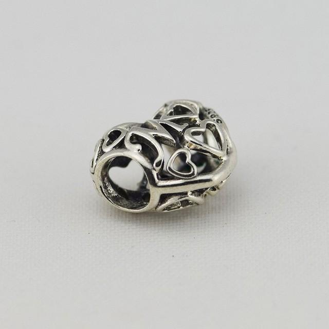 Стерлингового серебра 925 мама форме сердца бусины женщины DIY ювелирные изделия поиск подходит европейский бренд браслет