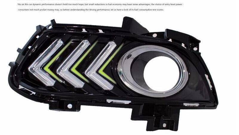 Free shipping, for Ford Mondeo 2013 2014 2015 ,fog lamp, LED Daytime running light DRL,Waterproof 12V Led CAR Light<br><br>Aliexpress