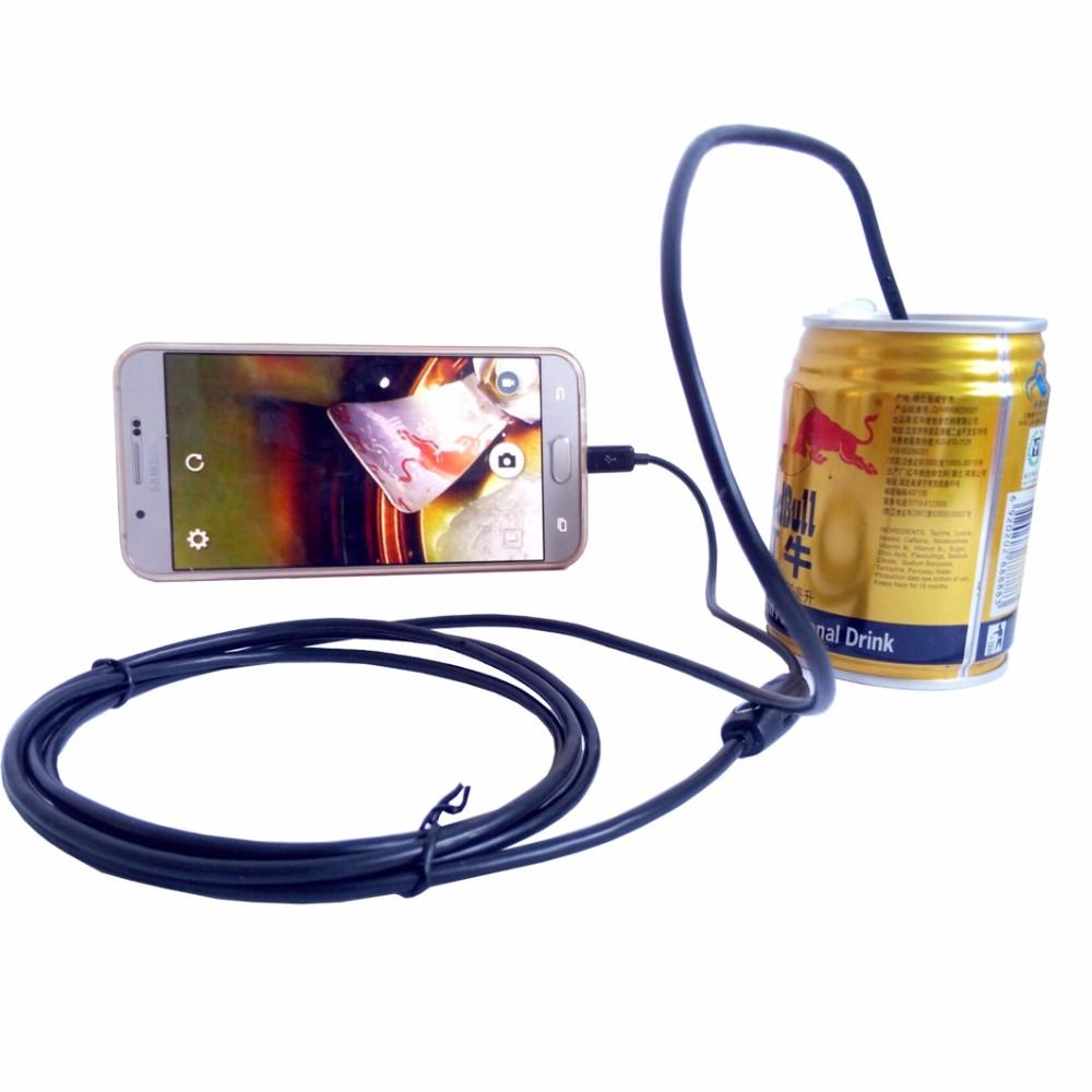 Red 8mm Lens USB Endoscope Android 2M 5M 10M OTG PC Endoscopio Mini Endoscope Camera 720P Inspection Waterproof Phone Camera