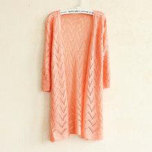 Summer Knitted Sweater Women Cardigan Female Korean Style Autumn 2016 Ladies Knitting Lace Crochet Long Cardigan Feminino YF9668(China (Mainland))