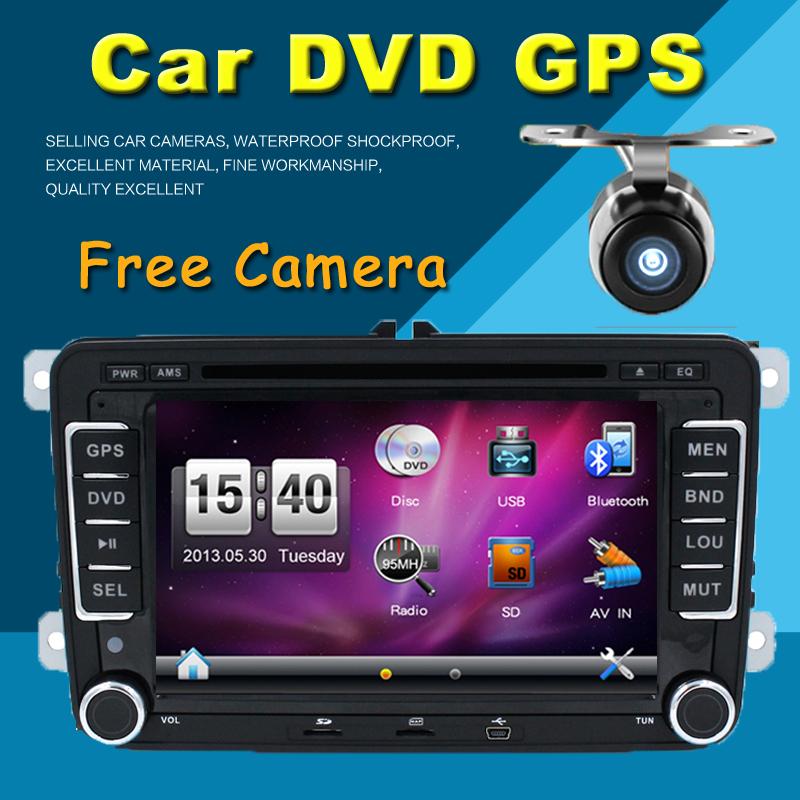 "New 7"" 2din Car DVD for VW GOLF 4 GOLF 5 6 POLO PASSATCC JETTA TIGUAN TOURAN EOS SHARAN SCIROCCO T5 CADDY with GPS(China (Mainland))"