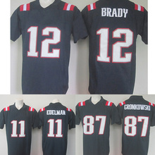 Men's Adult embroidery 11 Julian 12 Tom 87 Rob Brady Adult Edelman Gronkowski Navy Color Rush Limited Fast Free Shipping(China (Mainland))