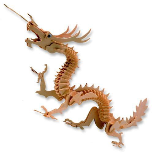 Dragon Model 3D Wooden Puzzle Wood Craft Construction DIY Toys Hot Selling Children Gift(China (Mainland))