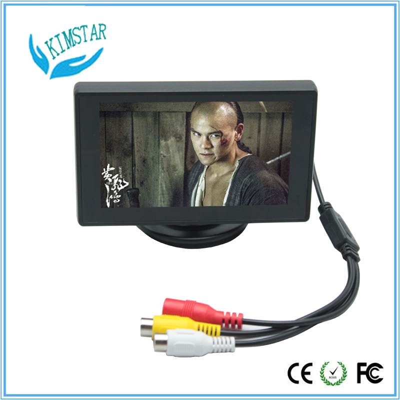 4.3 inch TFT Color LCD Screen Parking Sensor Video Monitor Car TV Rearview Backup for Reverse Camera mirror surface(China (Mainland))