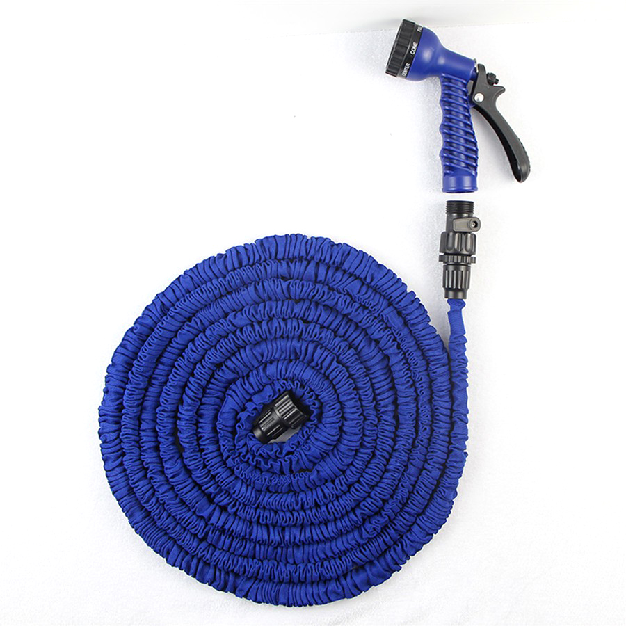 Free Shipping Garden Hose After Stretched Hose for Watering 75FT Hose Blue Magic Expandable Garden Water Hose+Spray Gun(China (Mainland))