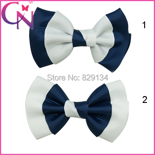 Boutique Girls Hairbows With Clip Handmade Grosgrain Hairbow Free Shipping 24pcs/lot Childrens Hair Accessories ZH24-141229010()