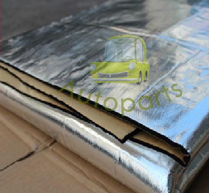 Car sound insulation Thicken 100*100cm material aluminum foil insulation cotton sound-absorbing Freeshipping(China (Mainland))