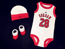 2015 Summer New Style Baby Boys girls Rompers Basketball sports suits Sleeveless jumpsuit climbing clothes+hat Newborn one piece(China (Mainland))