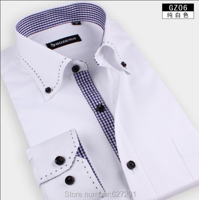 Pink-Free-Shipping-Mens-Shirts-Designer-Brand-Slim-Fit-Shirt-For-Men-Business-Casual-long-sleeve-men