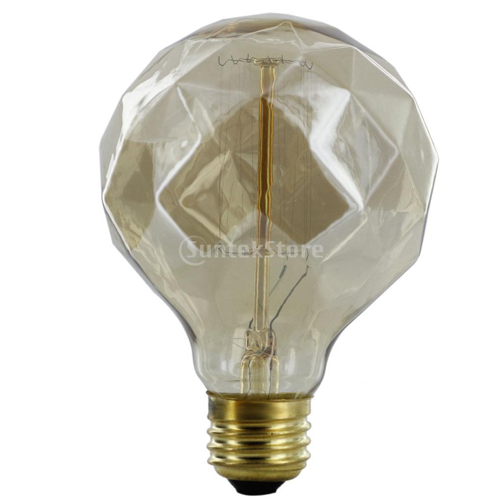 New Arrivals 2015 E27 220-240V Silvering Edison Tungsten Filament Bulb G80 Diamond Shaped Free Shipping(China (Mainland))