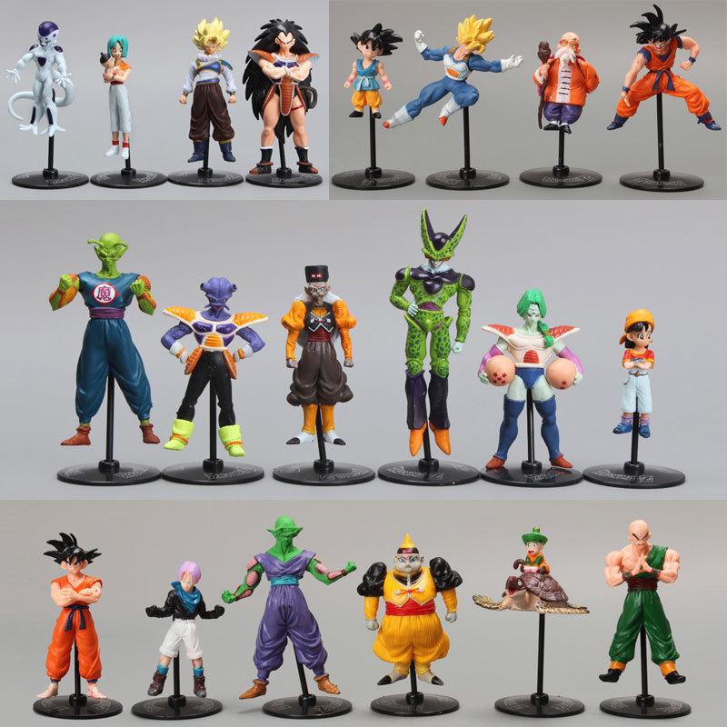 20pcs/set Dragon Ball Z GT Action Figures Crazy Party 10CM Cell/Freeza/Goku PVC Dragonball Figures Best Gift(China (Mainland))