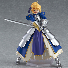 Anime Fate stay night Figma227 Ubw Zero Saber Knight Girl Arthur PVC Action Figure Collection Model Toys Doll 15cm Free Shipping