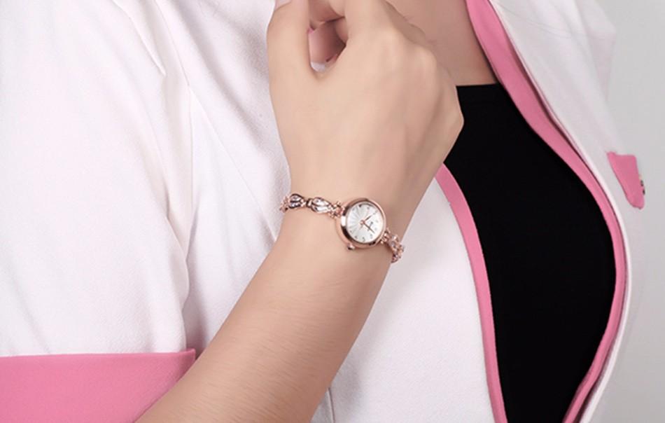 КИМИО Золото Высокое Качество Браслет Часов Для Женщин Relojes Mujer 2016 Мода Наручные Часы Женские Часы Класса Люкс Montre Femme 535