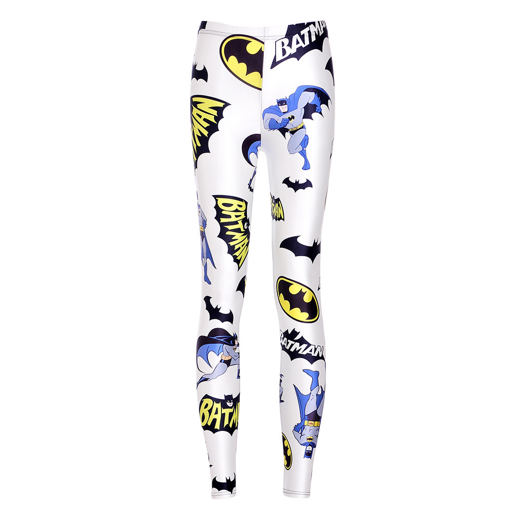 2016 Special Offer Leggins Sport Leggings Exported To Europe And The Digital Printing Batman Sexy Slim Pencil Pants Leggings(China (Mainland))