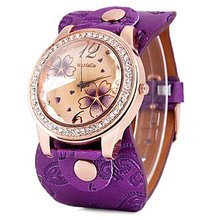 2016 Fashion 5 Colors Leather Strap watch Women Leather watches Luxury Ladies dress quartz watch Female atmos clock