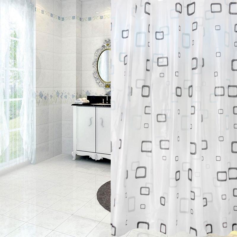 180 180cm Fabric Shower Curtain Bathroom Curtains Waterproof Bath Designs Sets Kits Supplies
