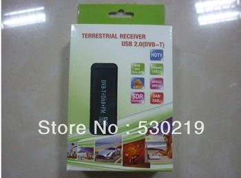 Mini Digital USB DVBT TV FM DAB Tuner DVB-T Receiver DVB T Dongle RTL2382U R820T Chipset Support SDR free shipping