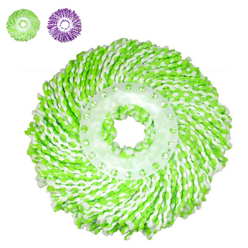 New Arrival Purple Green Chenille Mop Head Wet/Dry Home Cleanning Tools Mop Heads For 360 Degree Magic Easy Spin Mops(China (Mainland))