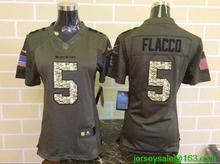 2016 Women Baltimore Ravens #5 Joe Flacco Green Salute To Service Limited(China (Mainland))