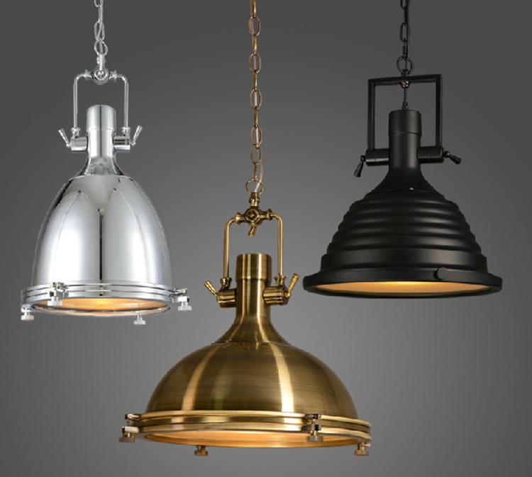 Vintage Lamp American Style E27 Copper Chrome Pendant Lamps With Glass Rh Loft Coffee Bar