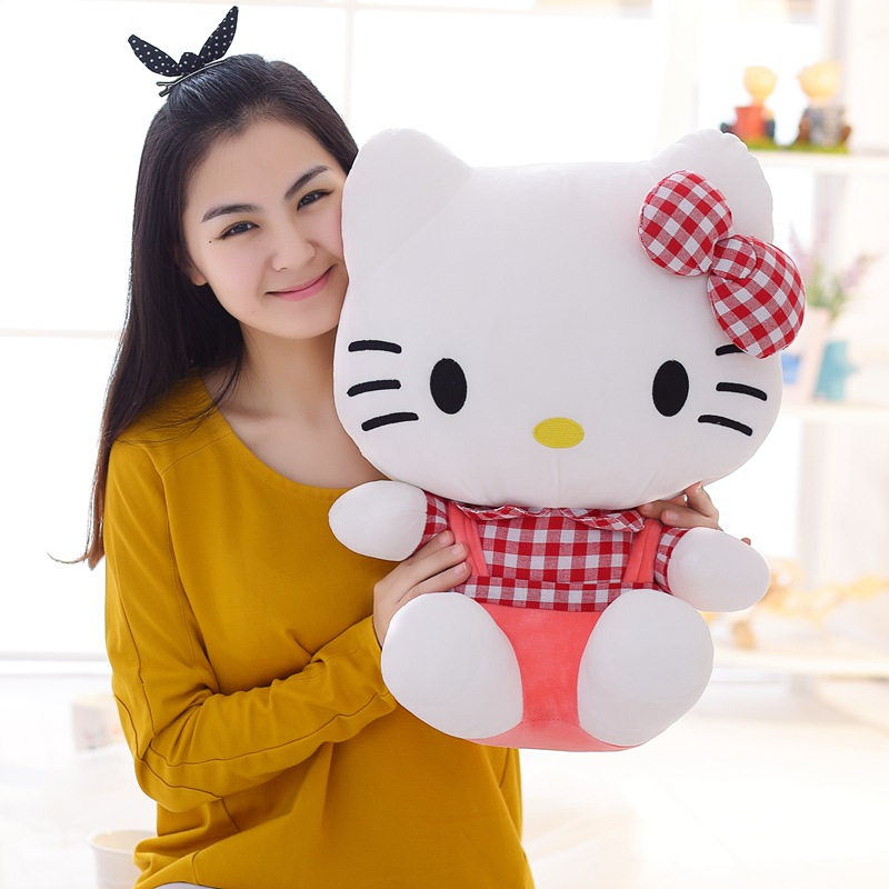 New Classic HELLO KITTY Stuffed Plush Toy KT DOLL Cute 25cm Children Birthday Lovers Christmas Present Free Shipping Hot Sale(China (Mainland))