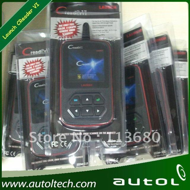 Launch Creader VI  Creader VI OBD II Code Reader,Color Screen,Online Update,With English, Spanish and  French