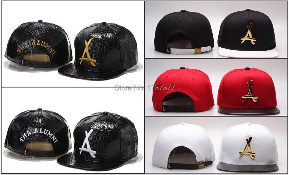 New Hot Tha Alumni Snapback Hats Strapback Caps With Gold Logo Camo Mens Women Hip Hop Leather Baseball Hats Cheap Price(China (Mainland))