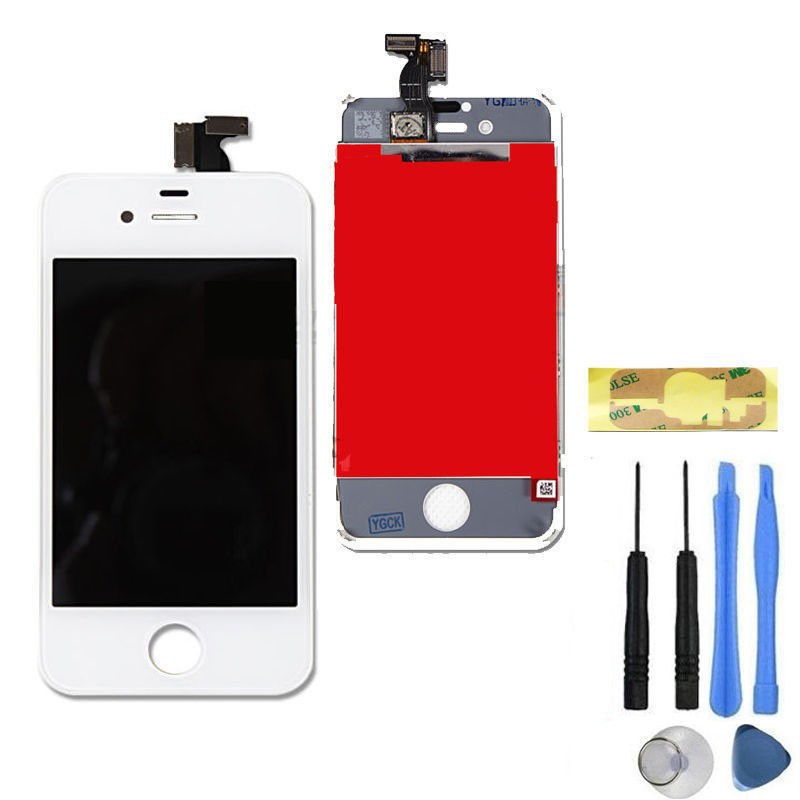 Assembly LCD Display Touch Digitizer Screen with Frame Replacement For Apple iPhone 4S White + Tools kit(China (Mainland))