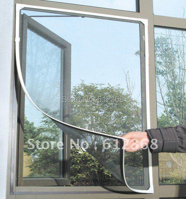 Tangpan 5PCS Insect Fly Bug Mosquito Black DIY Window Net Netting Mesh Screen New w Sticky Tape(China (Mainland))