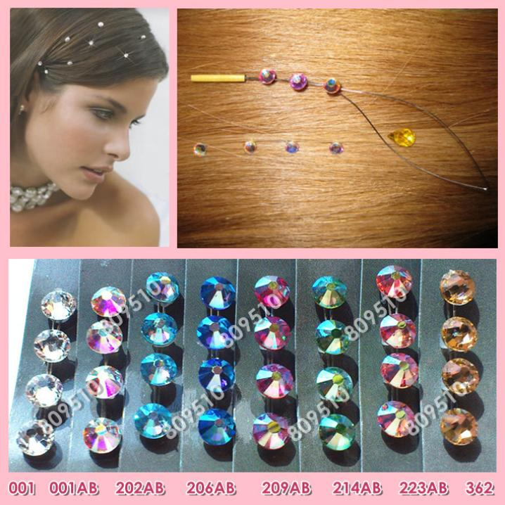 Popular Hair Extension Jewelry / Hair Accessories / Hair Extension Bling 1 Pack Same Color/Pack 8 color option FREE SHIPPING(China (Mainland))