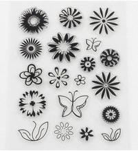 Promotion flowers Transparent seal  Variety Of StylesFor DIY Scrapbooking Photo Album Diary Decoration Supplies(China (Mainland))