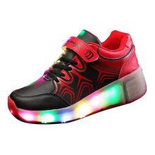 New 2016 Child Heelys Jazzy Junior Girls Boys LED Light Heelys Roller Skate Shoes For Children Kids Sneakers With Wheels