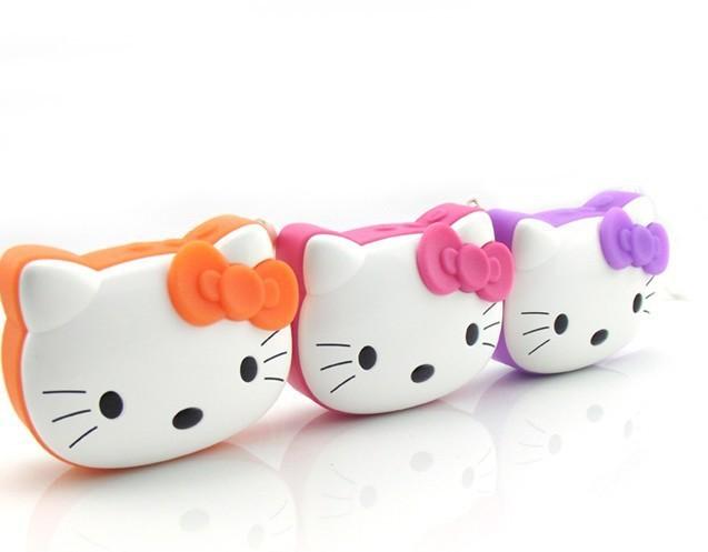 Hello Kitty Kitty Cat Portable HIFI Mini Speaker MP3 Player Amplifier Micro SD TF Card USB Disk Computer Speaker(China (Mainland))