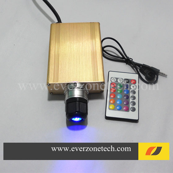 Free Shipping High Quality 16w with IR LED Fiber Optic Light Source with RGB Colors(China (Mainland))