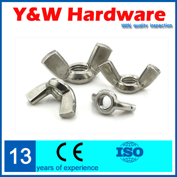 Discount 25pcs Wing nut shape M6 304 stainless steel rounded nut hand twist nut<br><br>Aliexpress