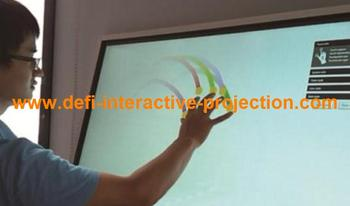 """2 points 65"""" IR  Touch Screen Frame without glass , Dust and water proofing, anti-vandal"""