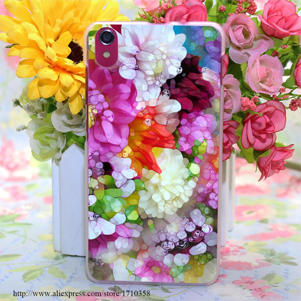 dazzling dahlia s i 322803 Style Transparent Hard Case Cover for Lenovo S850 S850T S60 S90