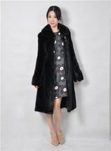 2015 winter woman fashion real mink fur X-LONG real mink coat 8043-100YL