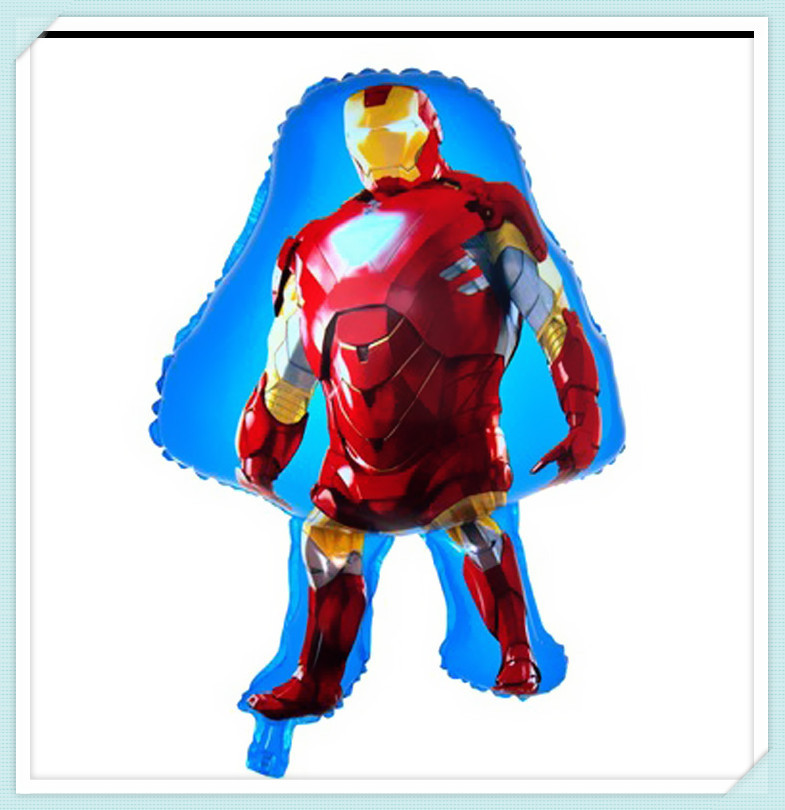 Free Shipping 1PC Iron Man Balloons For Party Helium Shaped Cartoon Foil Balloons Inflatable Toys For Kids(China (Mainland))